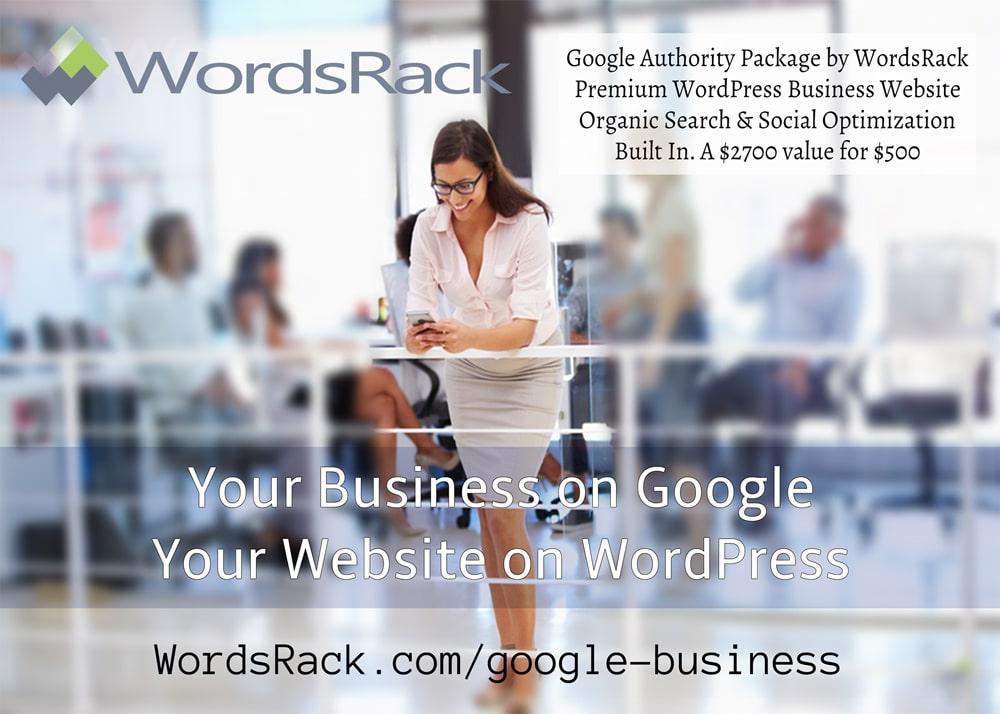 Google Authority Business Postcard 2016