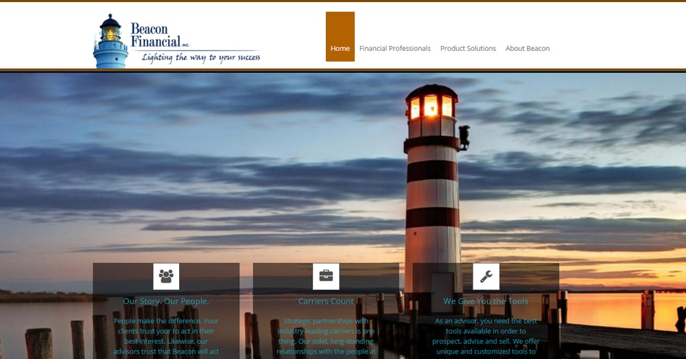 Beacon-Financial-Success-Website-Wordsrack-Client-Portfolio-Screenshot