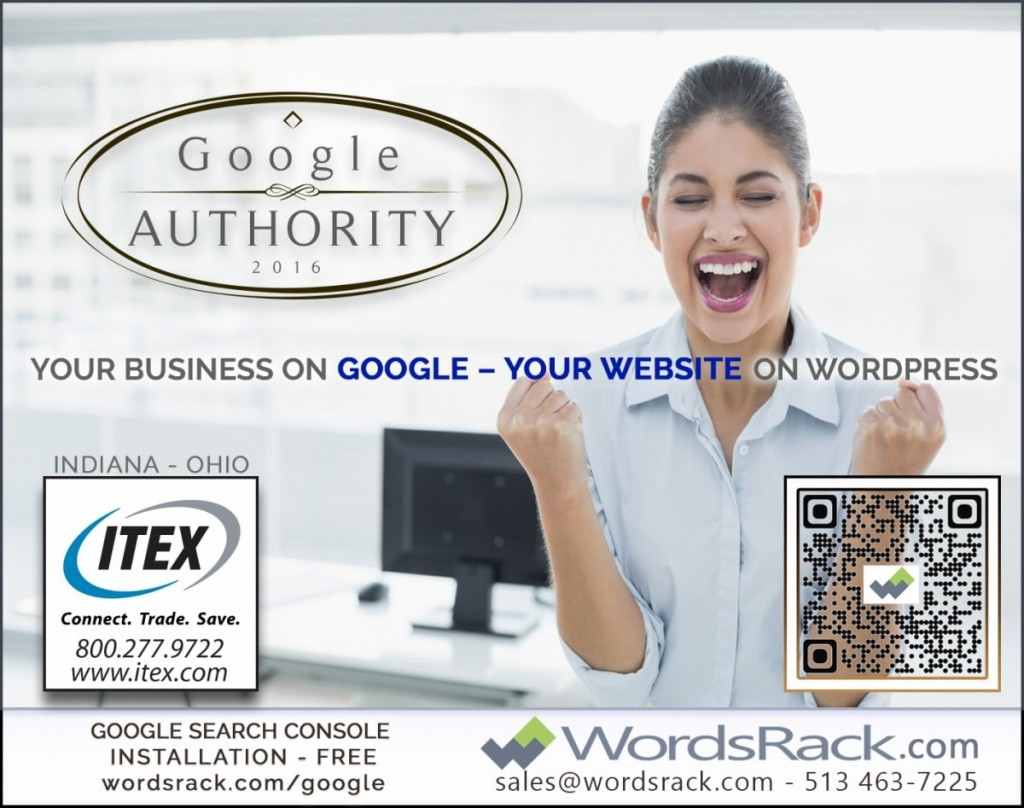 Google-Authority-Wordsrack-Ad-for-Indy Metro Woman Magazine July 2016 Edition