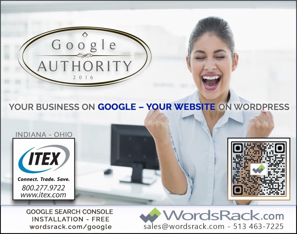 Google-Authority-Wordsrack-Ad-for-Indy Metro Woman Magazine July 2016 Edition