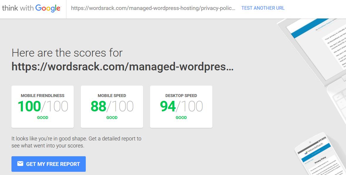 wordsrack wordpress managed hosting test my site with google mobile 2